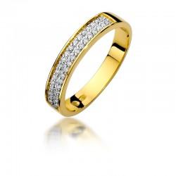Pierścionek z diamentem W410