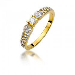 Pierścionek z diamentem W411