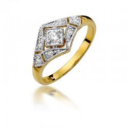 Pierścionek z diamentem W412