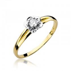 Pierścionek z diamentem W57